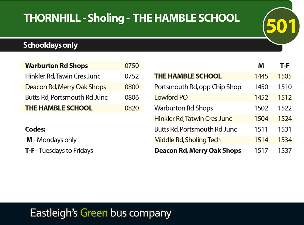 501 Xelabus Timetable - January 2017