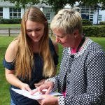 Elyse Marshal with Headteacher Ms L Croke