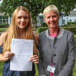 A proud moment! Elyse Marshal with Headteacher Ms L Croke
