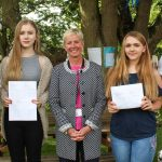 Proud Headteacher Ms L Croke with some of our students: Lottie Ash, Ashling James, Elyse Marshall and Charlie Clark