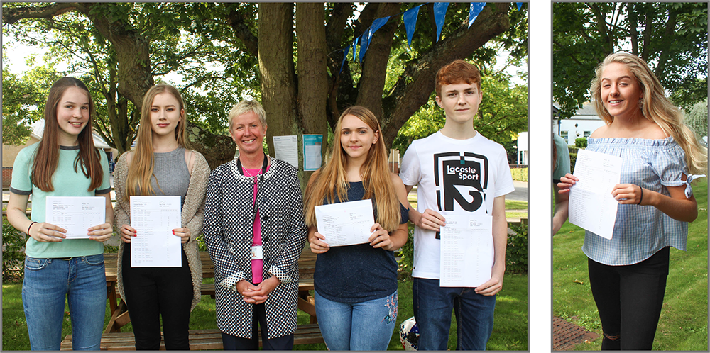 Top 5 Students 2017 at The Hamble School with Lisa Croke, Headteacher