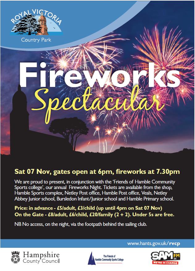 RVCP Fireworks - 7th November 2015