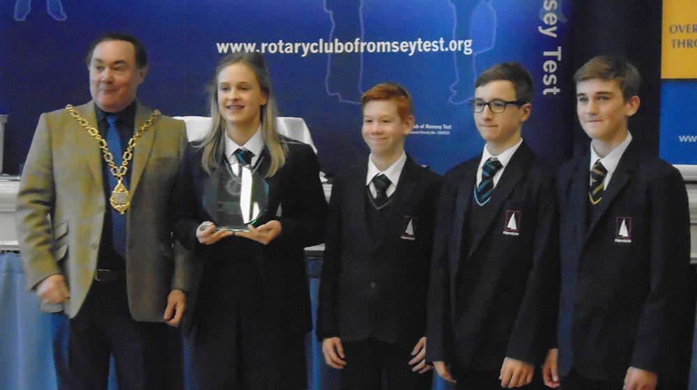 Year 9 Hamble Engineering students gain 1st, 2nd and 3rd place in local Engineering competiton