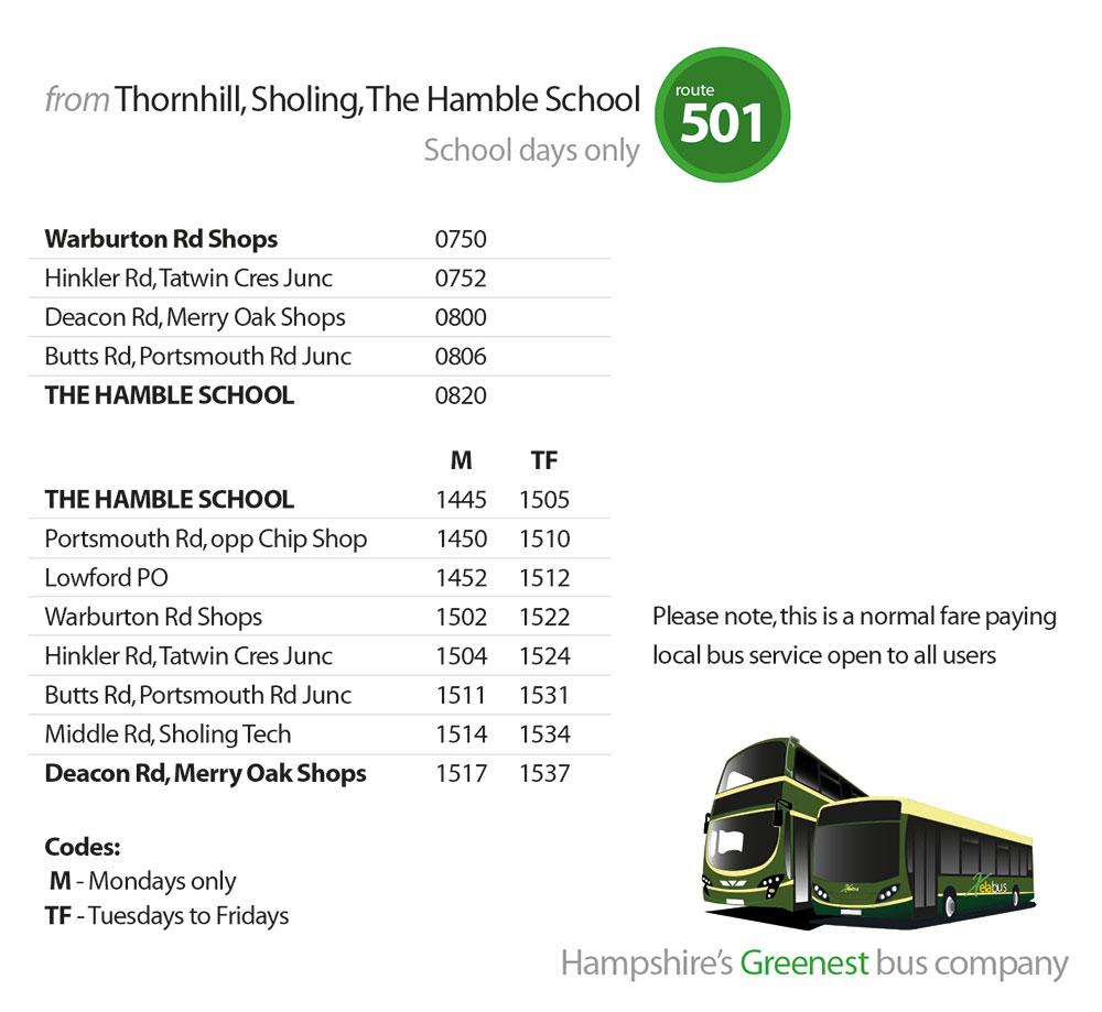 501 Xelabus Timetable