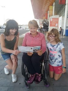 Winners - Issie and Livi with Baroness Tanni Grey-Thompson