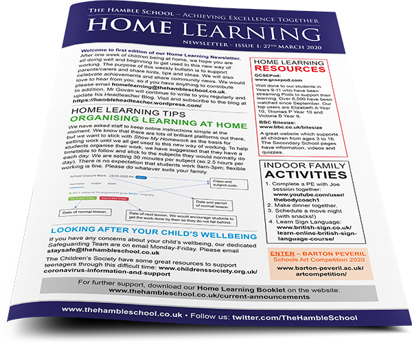 Home Learning Newsletter