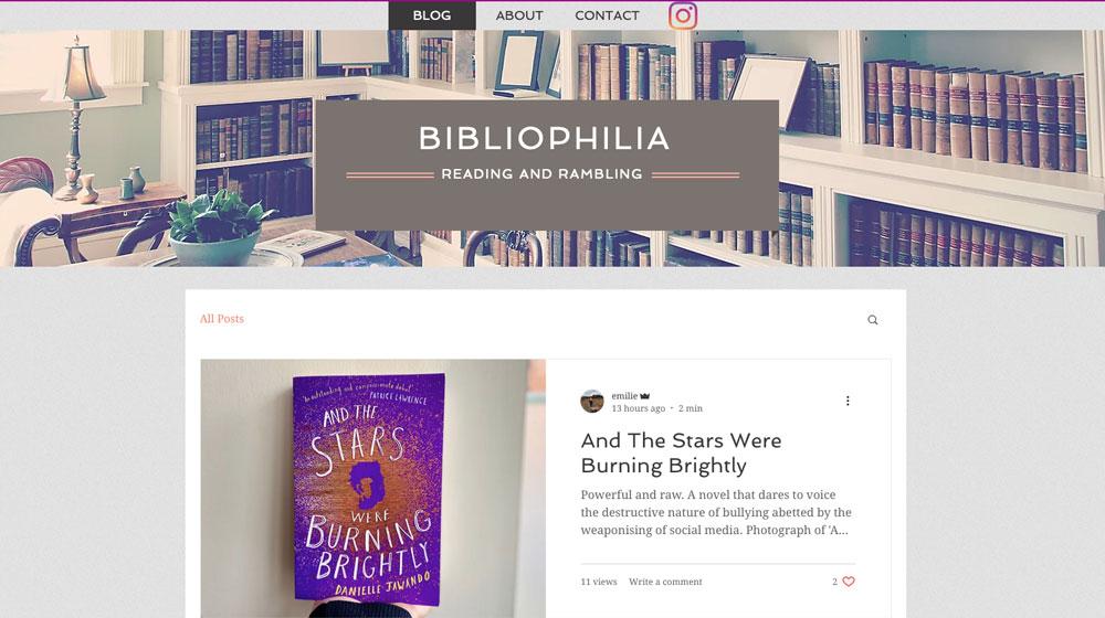 Bibliophilia – Book Blog